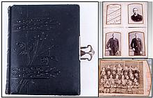 Victorian Photo Album containing assorted black