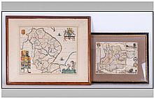Two Hand Coloured Printed Maps one of Essex and