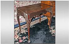 George II / III Red Walnut side table, with a tray