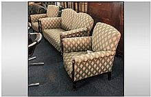 A Three Piece Upholstered Edwardian Parlour Suite