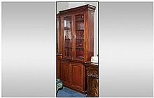 Early Twentieth Century Mahogany Glazed Bookcase