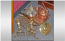 Mixed Selection Of Brass And Copper. Comprising