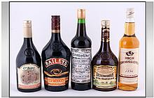 Collection of Alcohol Bottles comprising O'Briens