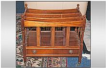 A Reproduction Mahogany Canterbury Of Regency