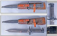 Swedish M1896 Mauser Bayonet, Scabbard And Frog.
