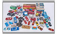 Box Of Assorted Model Cars And Boats. To include 5