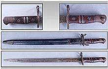 1913 Enfield Bayonet And Scabbard