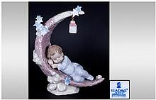 Lladro Figure 'Heavens Slumber' Model Number 6479 Retired. Mint condition and original box. 7'' in height.