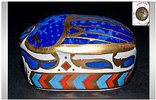 Royal Crown Derby Paperweight 'Millennium Bug', 1st quality gold stopper. Retired June 1999. With original box