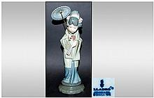 Lladro Figure ' Chrysanthemum ' Model No.4990. Issued 1978-1998. Height 11.5 Inches, Excellent Condition.