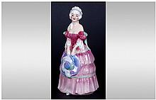 Royal Doulton Miniature Figure ' Monica ' Reg No.77349. M64. Issued 1934-1949. Height 4.5 Inches. Excellent Condition.