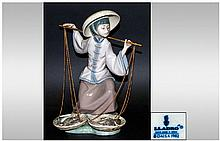 Lladro Figure ' Duck Seller ' Model No.1267. Issued 1974-1993. Height 7.75 Inches. Excellent Condition.