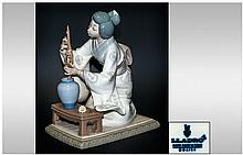 Lladro Figure ' Oriental Girl ' Model No.4840. Issued 1973-1997. Height 7.5 Inches. Excellent Condition.