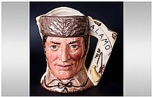 Royal Doulton Limited Edition Character Jug 'The Battle Of Almo' ''Davy Crockett/Antonio Lopez'' D6729, number 9368/9500. 7'' in height. Mint conditio