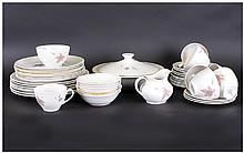 Royal Doulton 'Tumbling Leaves' Part Dinner Set comprising tureen, cups, saucers, side plates, large and smaller dinner plates etc (50) pieces.