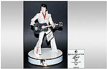 Royal Doulton Limited Edition & Numbered Hand Made Figure 'Elvis' Show Time In Vegas EP3. Number 665/2500. 9.5'' in height, Mint condition. Complete w