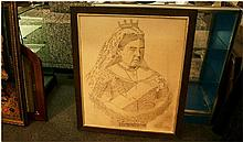 Framed Print Of Queen Victoria 'Life Story Picture' to commemorate Diamond Jubilee 22nd June 1897.