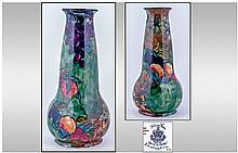 Hancock Sons Hand Painted Tall Vase. Titian vase.
