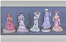 Collection of Five Figures comprising Coalport