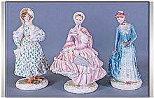 Three Porcelain Figures from The Royal Worcester