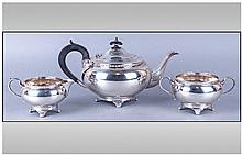 Art Deco E Viners Delux Silver Three Piece Tea