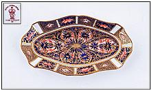 Royal Crown Derby Imari Pattern Shaped Pin Dish,
