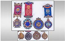 Four Silver & Enamel Masonic Medals 1. Order Of