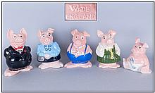 Wade Complete Set Of Five Natwest Piggy Banks. All