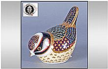 Royal Crown Derby Paperweight ' Goldcrest ' Date