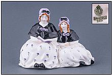 Royal Worcester Early Figure Two Ladies. RW 2616.