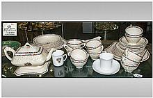 Crown Ducal Part Teaset comprising teapot, cups,