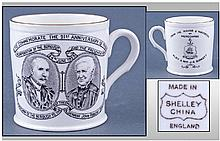 Rare Shelley China Commemorative Mug, depicting