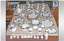 Royal Albert ''Moonlight Rose'' 81 Piece Tea,