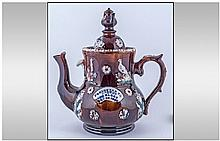 Measham Ware Bargee Treacle Glazed Novelty Teapot,