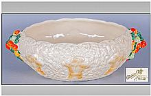 Clarice Cliff Hand Painted Salad Bowl. Celtic