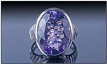 Designer Brazilian Amethyst Cocktail Ring, the