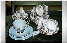 Royal Albert 'Moss Rose' Part Tea Set comprising 5