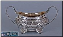 George VI Fine Silver Two Handled Sugar Bowl, with