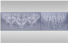 Box Set Of 12 Wine Glasses. Together with 7 acid