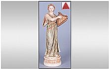 Royal Dux Figure, Classical female figure dressed