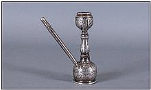 Antique Silver Middle Eastern Miniature Hookah