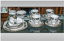 Scottish Royal Standard Part Teaset 'Bonnie