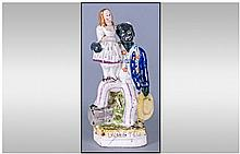 Staffordshire Mid 19th Century Figure 'Uncle Tom &
