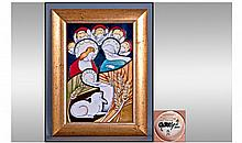 Moorcroft Limited Edition Modern Plaque. Number