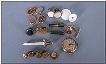 Mixed Lot Off Oddments, Comprising Cufflink's, ,
