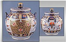 Royal Crown Derby Style Two Handled Pot Pourri,