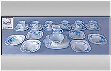 Shelley Art Deco 27 Piece Tea Service, ''Blue