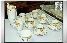Royal Doulton 15 Piece Coffee Set. Clarke pattern.