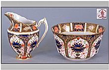 Royal Crown Derby Imari Pattern Milk Jug And Sugar