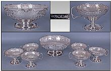 Art Deco Very Fine Quality Silver Footed Fruit